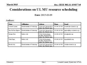 March 2015 doc IEEE 802 11 150377 r