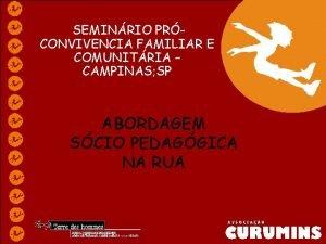 SEMINRIO PRCONVIVENCIA FAMILIAR E COMUNITRIA CAMPINAS SP ABORDAGEM