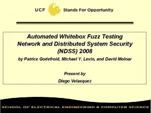 Automated Whitebox Fuzz Testing Network and Distributed System