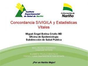 Mortalidad Materna y Perinatal Concordancia SIVIGILA y Estadisticas