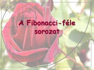 A Fibonaccifle sorozat 1 Leonardo Pisano 11701250 olasz