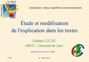 Lexplication enjeux cognitifs et communicationnels tude et modlisation