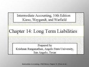 Intermediate Accounting 10 th Edition Kieso Weygandt and