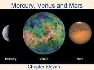 Mercury Venus and Mars Chapter Eleven ASTR 111