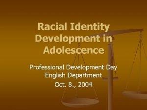 Racial Identity Development in Adolescence Professional Development Day