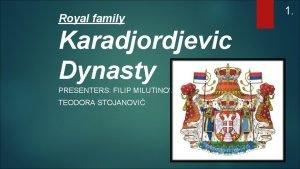 Royal family Karadjordjevic Dynasty PRESENTERS FILIP MILUTINOVI TEODORA