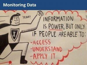 Monitoring Data Monitoring Data We are producing a