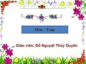 Mn Ton Gio vin Nguyt Thy Duyn Th