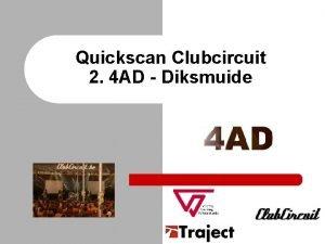 Quickscan Clubcircuit 2 4 AD Diksmuide Situering Clubcircuit