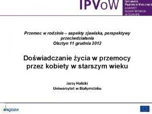 Przemoc w rodzinie aspekty zjawiska perspektywy przeciwdziaania Olsztyn