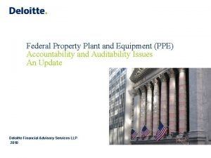 Federal Property Plant and Equipment PPE Accountability and