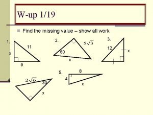 Wup 119 n Find the missing value show