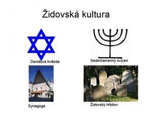 idovsk kultura Davidova hvzda Synagoga Sedmiramenn svcen idovsk
