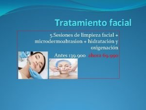 Tratamiento facial 5 Sesiones de limpieza facial microdermoabrasion