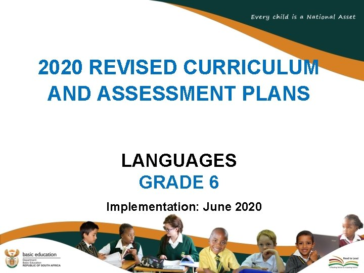 2020 REVISED CURRICULUM AND ASSESSMENT PLANS LANGUAGES GRADE