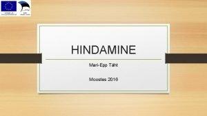 HINDAMINE MariEpp Tht Moostes 2016 hiskonna ootus uuele