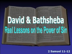 2 Samuel 11 12 David Bathsheba Sin Sin