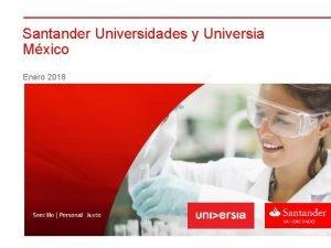 Santander Universidades y Universia Mxico Enero 2018 Emprendimiento