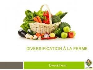 DIVERSIFICATION LA FERME Diversi Ferm Vendre sa viande