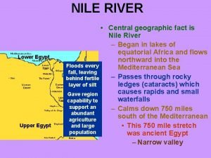 NILE RIVER Lower Egypt Upper Egypt Central geographic