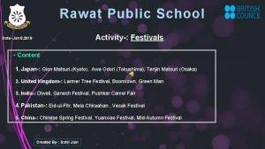 Rawat Public School Activity Festivals Date Jan 8