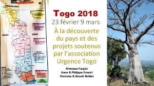 Togo 2018 23 fvrier 9 mars la dcouverte