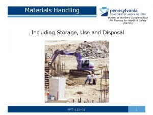 Materials Handling Bureau of Workers Compensation PA Training