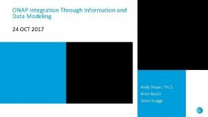 ONAP Integration Through Information and Data Modeling 24