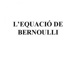 LEQUACI DE BERNOULLI Quadre genealgic de la famlia