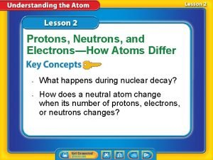 Protons Neutrons and ElectronsHow Atoms Differ What happens