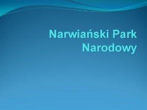 Narwiaski Park Narodowy Narwiaski Park Narodowy ley w