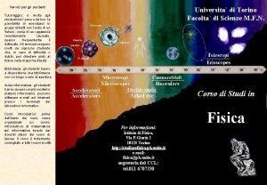 Servizi per gli studenti Universita di Torino Facolta