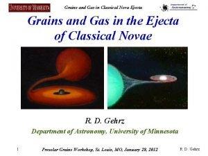 Grains and Gas in Classical Nova Ejecta Grains