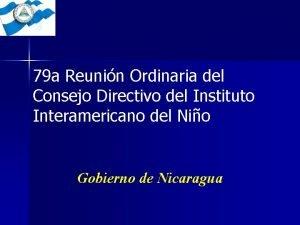 79 a Reunin Ordinaria del Consejo Directivo del