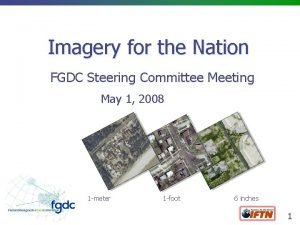 Imagery for the Nation FGDC Steering Committee Meeting