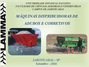 UNIVERSIDADE ESTADUAL PAULISTA FACULDADE DE CINCIAS AGRRIAS E