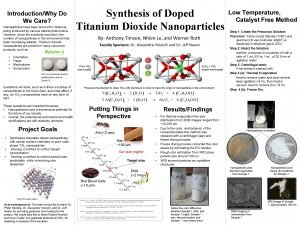 IntroductionWhy Do We Care Nanoparticles have been around