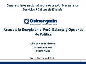 Congreso Internacional sobre Acceso Universal a los Servicios