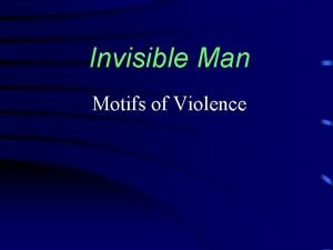 Invisible Man Motifs of Violence Street Confrontation prologue