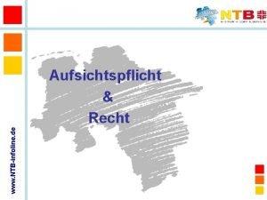 www NTBinfoline de Aufsichtspflicht Recht berblick Aufsichtspflicht Grundstze