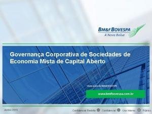 Governana Corporativa de Sociedades de Economia Mista de