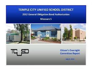 TEMPLE CITY UNIFIED SCHOOL DISTRICT 2012 General Obligation