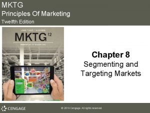 MKTG Principles Of Marketing Twelfth Edition Chapter 8