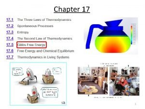 Chapter 17 1 Gibbs Free Energy For a
