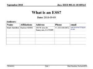 September 2018 doc IEEE 802 11 181051 r