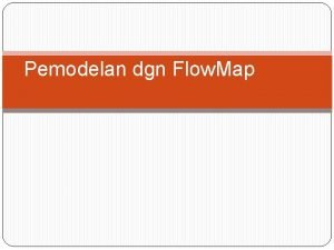 Pemodelan dgn Flow Map SURVEY SISTEM Merupakan prosedur