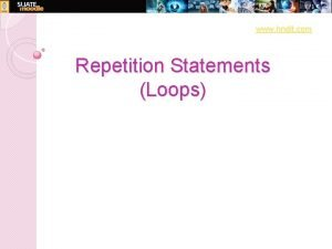 www hndit com Repetition Statements Loops www hndit