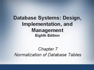 Database Systems Design Implementation and Management Eighth Edition