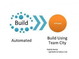 Build A Project Automated Build Using Team City