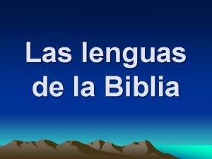 Las lenguas de la Biblia NTG Peri de